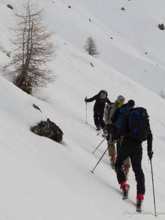 SBF 1, Finstertaler Scharfenkopf snowboardtour, klim, knetterhar