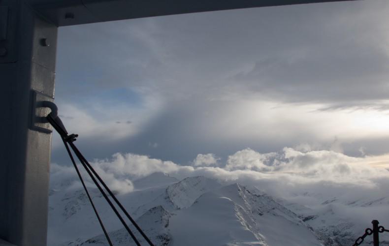 Verse sneeuw op de Kitzsteinhorn, NW face
